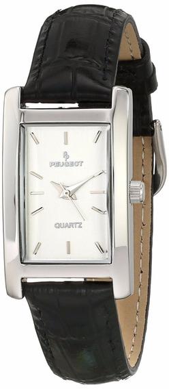 Reloj Peugeot Dress Acero Piel Negro Mujer 8mm 3008sbk