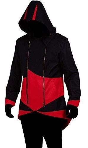 Abrigo De Chaqueta Con Capucha Cos2be Negro Y Rojo, Mujer-l