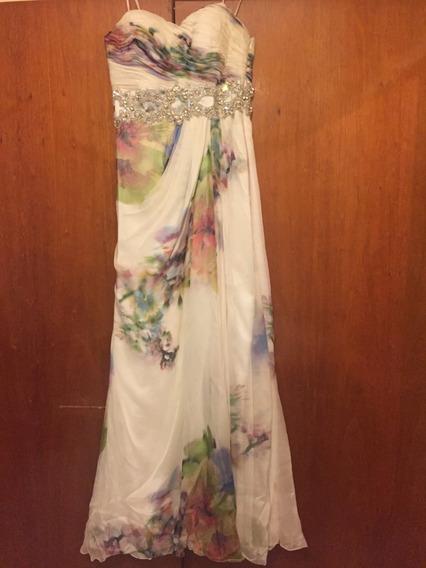 Vestido De Fiesta Largo -1 Postura, Oportunidad!!!