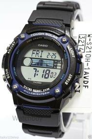 Relógio Casio W-s210h-1a Tough Solar Gráfico Maré Fase Lunar