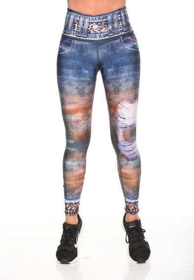 Legging Lycra Leggins Brandfit Jeans Malla Deportiva Fitness