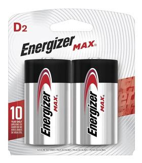 Bateria Energizer D Max - 2 Unidades