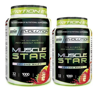 2 Proteína Musclestar Star Nutrition 1 Kg Post Entreno Masa