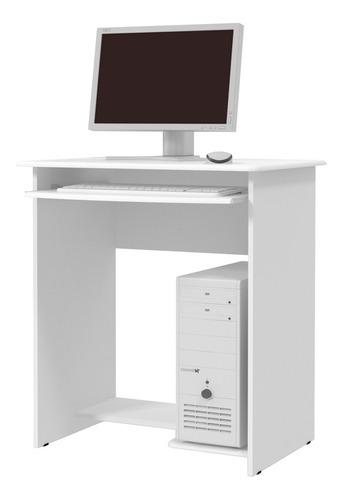 Imagem 1 de 1 de Mesa De Computador Pratica Branco - Ej Móveis