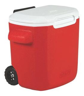 Caixa Térmica Vermelha Com Rodas 15.1 Litros 16qt Coleman