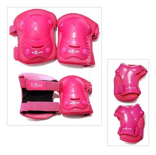 Set Protecciones Rollers Patin Skate Bici Stemax / Ez Life