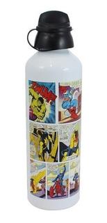 Squeeze Marvel Hq Colors - Garrafa De Alumínio