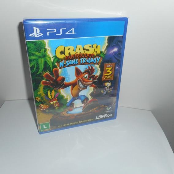 Crash Bandicoot N Sane Trilogy Ps4 Mídia Física Novo Lacrado