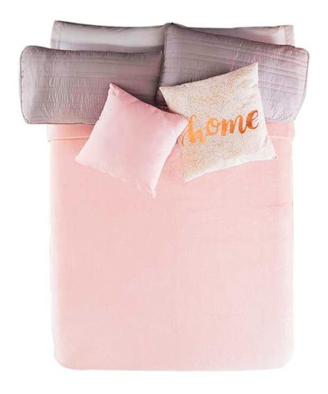 Cobertor Ligero Frazada Rosa Elegante Suave Vianney