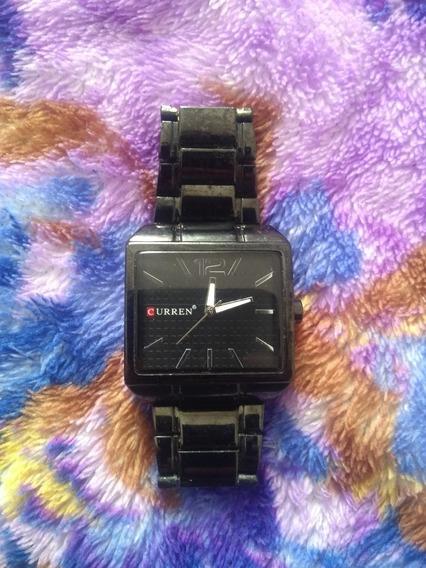 Relógio Masculino Quadrado Aço Inox Curren 8132 Preto
