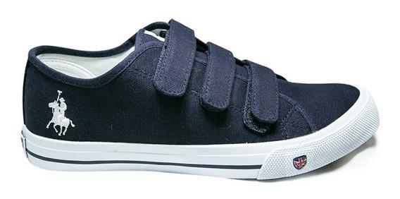 Tenis Zapato Caballero Con Ajuste Velcro Royal County
