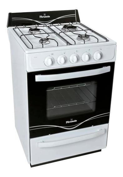 Cocina Florencia Multigas 5516f 4 Hornallas 56cm Blanca