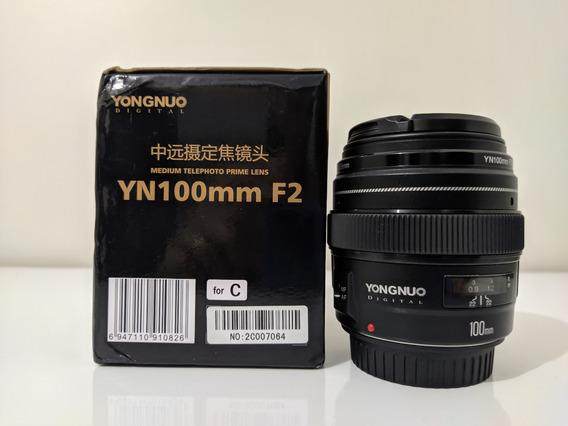 Lente Yongnuo 100mm F/2 - Canon