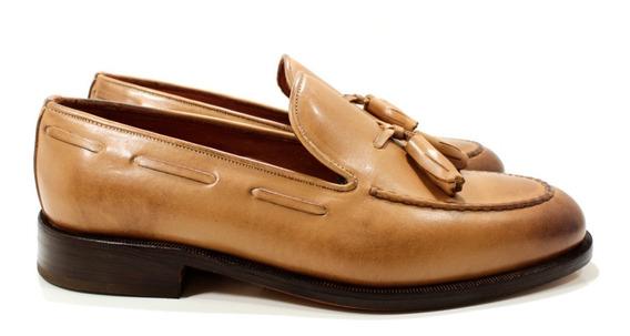 Zapato Hombre Mocasín Cuero Diseño Lorenzo By Ghilardi