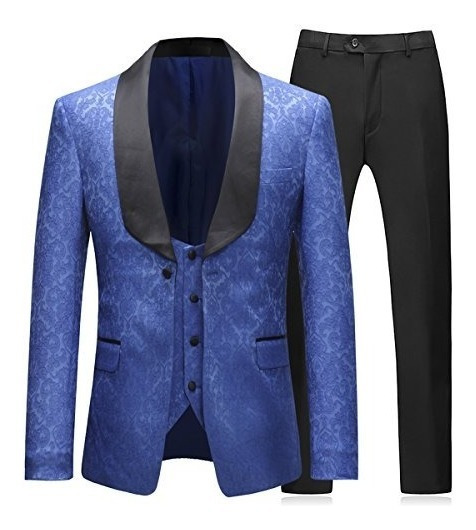 Set 3 Saco Pantalón Y Chaleco Para Hombre Esmoquin Elegante
