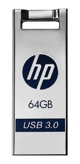 Pendrive HP x795w 64GB prateado