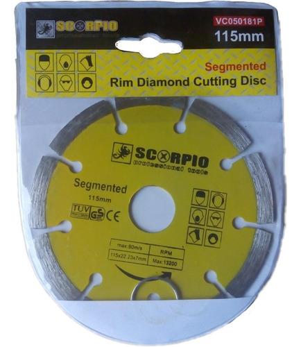 Disco De Corte Diamantado 4. 1/2 Segmentado Scorpio