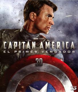 Capitán América El Primer Vengador 3d Marvel Bluray Original