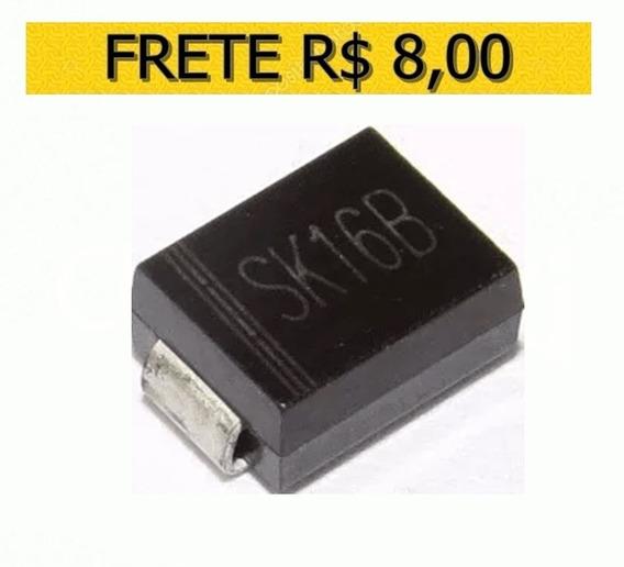 Diodo Smd Sk16b Sk16 B Schottky 1a/60v - Lote 10 Unidades