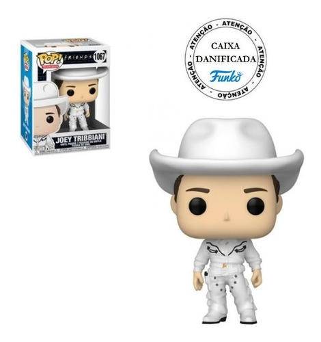 Boneco Pop Funko Friends Joey Tribbiani As Cowboy Joey #1067