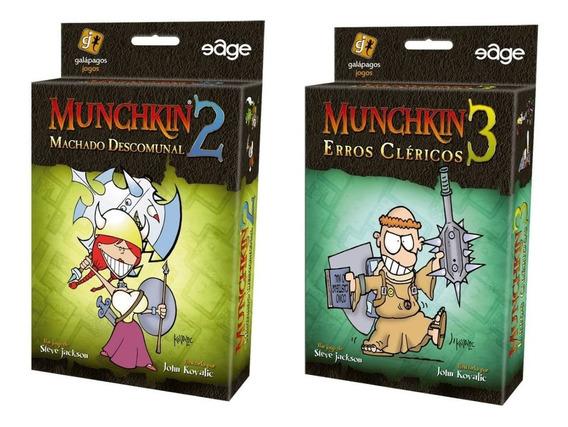 Munchkin 2 + Munchkin 3 Expansão De Jogo Galapagos