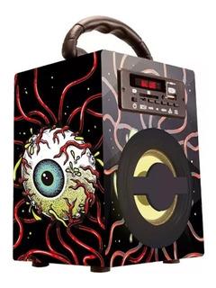 Parlante Bluetooth Stromberg Eyes Portatil Radio Recargable