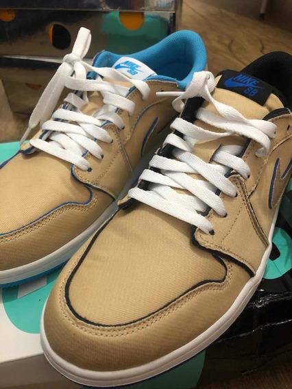 Nike Sb Air Jordan 1 Low Desert/royal Blue - Tamanho 41