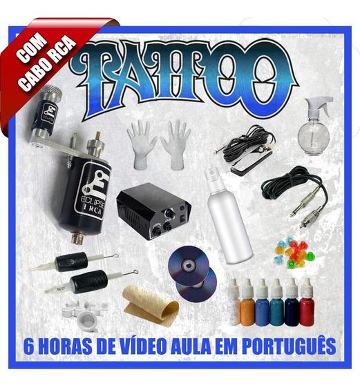Kit Tattoo Completo Máquina Rotativa Rca Tatuagem Dvd Curso