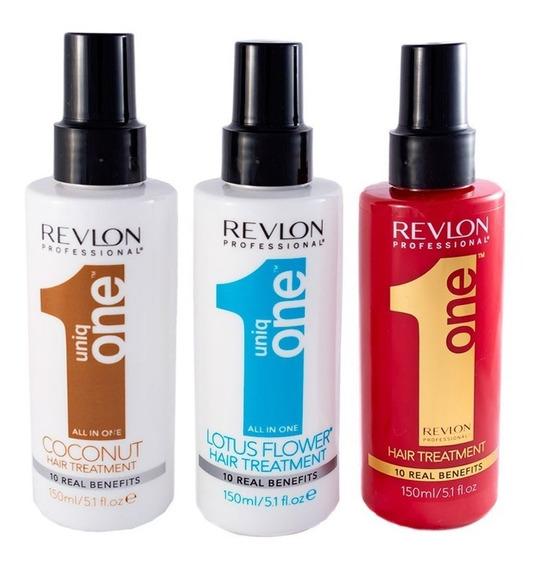 Kit X3 Revlon All In Uniq One Tratamiento Pelo Brillo Set