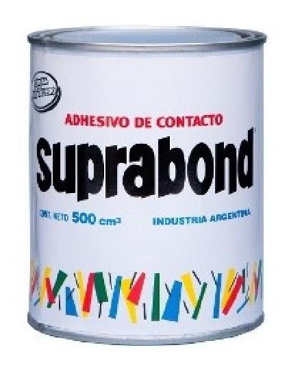 Cemento De Contacto Pegamento Sin Tolueno Suprabond 1/2 Lt