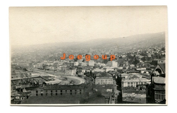 Antigua Foto Postal Vista Panoramica De Valparaiso Chile