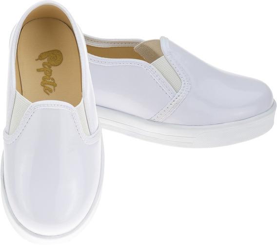 Tênis Infantil Feminino Moda Casual Escolar Slip On Sapato