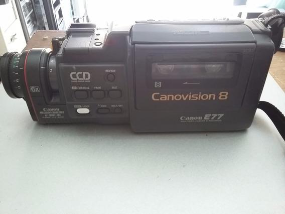 Câmera Filmadora Canonvision 8 Canon E77 + Fonte Carregadora