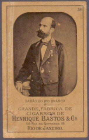 Figurinha Antiga De Coleção - Barão Do Rio Branco - 03081924
