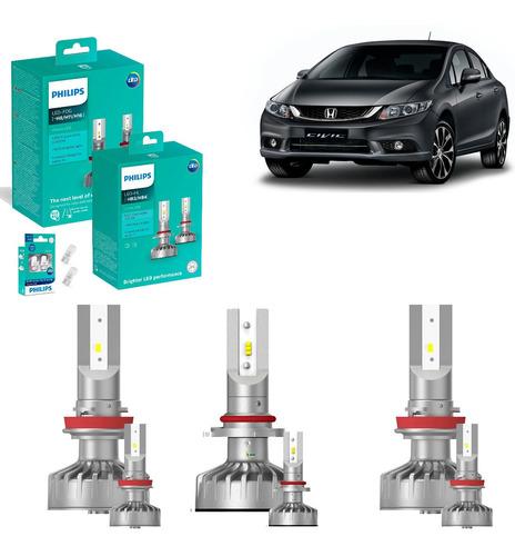 Kit Super Led Philips H11 + Hb3 + H11 + T10 - Honda Civic
