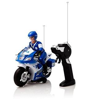 Dimple Police Motorcycle Con Driver De Radio Control Talla