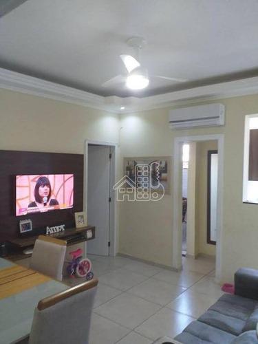 Apartamento Com 2 Dormitórios À Venda, 60 M² Por R$ 180.000,00 - Neves - São Gonçalo/rj - Ap3139