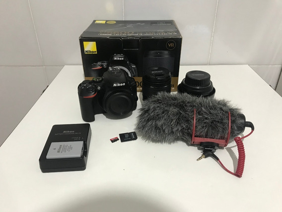 Nikon D5600 Kit + Lente 35mm + Mic Rode+ Sd32 Gb