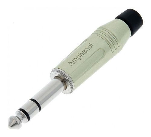 Ficha Conector Plug Stereo 1/4'' Amphenol Acps-gn Metal