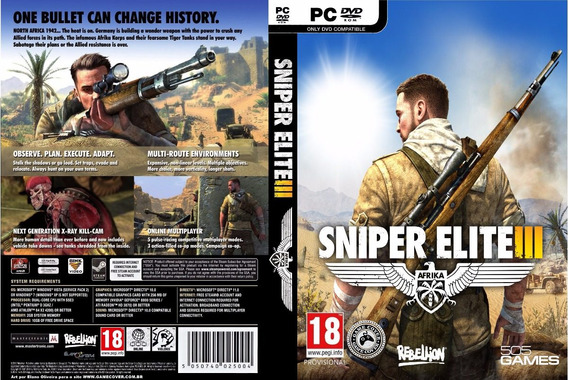 Sniper Elite 3 Pc (mídia Física)