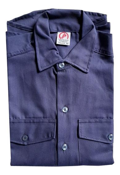 Camisa De Trabajo Ip Azul Marino Industria Construccion