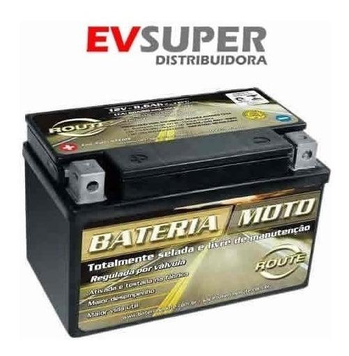 Bateria Route 12volts Ytx9-bs Cb500 - Xt600 - Shadow600