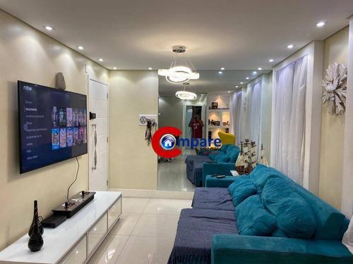 Apartamento Com 3 Dormitórios À Venda, 67 M² Por R$ 470.000,00 - Vila Augusta - Guarulhos/sp - Ap9082
