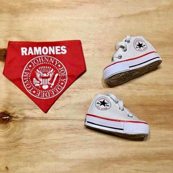Zapatillas Converse Bebe + Bandana Ramones