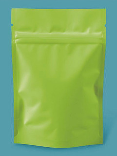 1000 Bolsas Stand Up Verde Limon Mate De 4x6x2