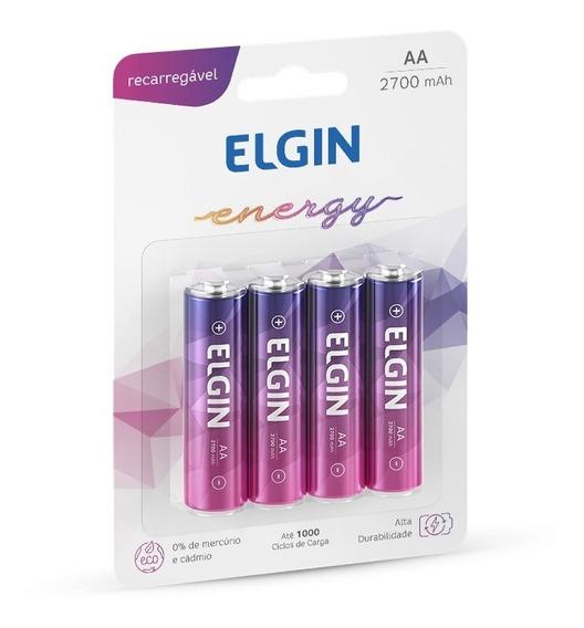 Pilhas Recarregável Aa (pequena) Energy 2700 Mah 4 Un Elgin
