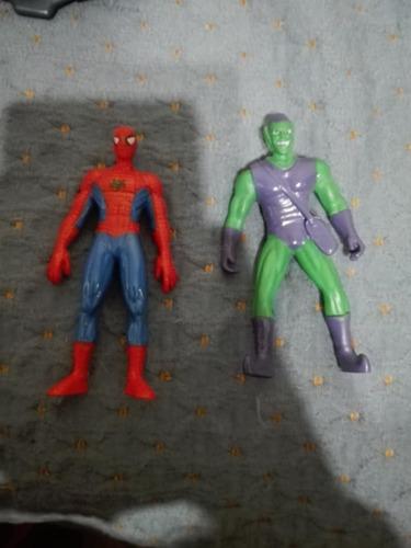 Spiderman Y El Duende Verde Marvel Figuras Fijas 10cm
