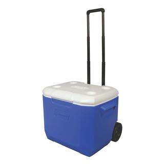 Caixa Térmica Com Rodas Coleman 60qt Sport 57 Litros Azul