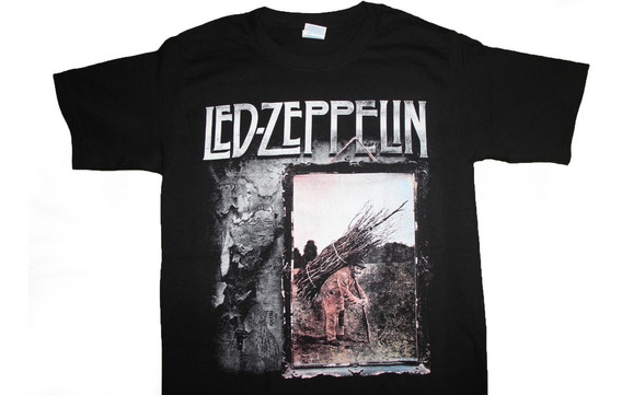 Gusanobass Playera Metal Rock Led Zeppelin 4 Hard Heavy