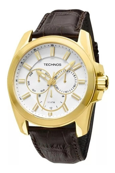 Relógio Technos Masculino Couro Marrom 6p29aet/2k Ibi